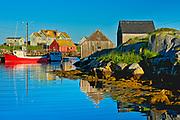 Fishing boat in iconic coastal fishing village<br />Peggy's Cove<br />Nova Scotia<br />Canada