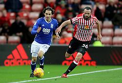 Birmingham City's Jota and Sunderland's Marc Wilson