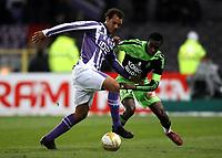 FOOTBALL - FRENCH CHAMPIONSHIP 2008/2009 - L1 - TOULOUSE FC v AS SAINT ETIENNE - 13/12/2008 - DANIEL BRAATEN (TOU) / BLAISE MATUIDI (ASSE) - <br /> <br /> Norway only