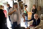 BRUCE WEBER; FRANCA SOZZANI, The Moncler Duck toy interpreted by artist Stuart Semple. Presented by Fraca Sozzani. Raleigh Hotel Miami Beach. 5 December 2008 *** Local Caption *** -DO NOT ARCHIVE-© Copyright Photograph by Dafydd Jones. 248 Clapham Rd. London SW9 0PZ. Tel 0207 820 0771. www.dafjones.com.