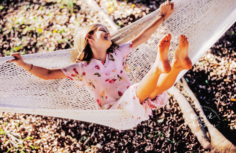Hawaii, USA --- Girl on a Hammock people ****Model Release available