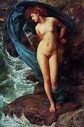 Sir Edward Poynter  1836-1919, English artist. Andromeda 1869, Oil on canvas.