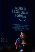 A participant asks a question during during the session: China's Financial Opening at the World Economic Forum - Annual Meeting of the New Champions in Tianjin, People's Republic of China 2018.Copyright by World Economic Forum / Greg Beadle