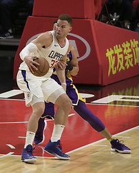 November 27, 2017 - Los Angeles, California, U.S - Blake Griffin #32 of the Los Angeles Clippers during their game with the Los Angeles Lakers on Monday November 27, 2017 at the Staples Center in Los Angeles, California. Clippers vs Lakers. (Credit Image: © Prensa Internacional via ZUMA Wire)