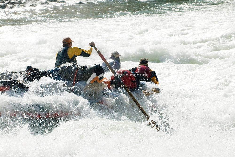 Rafting Lava Falls Rapid at river mile 179.7 arguably the most feared rapid on the Colorado River in the Grand Canyon, Arizona.