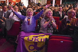 © Licensed to London News Pictures. 27/02/2015. Margate, UK. Attendees at the conference.  The UKIP spring conference at Margate Winter Gardens 27th February 2015. Photo credit : Stephen Simpson/LNP