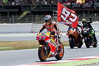 Marc Marquez of Spain and Repsol Honda Team during the race of  MotoGP of Catalunya at Circuit de Catalunya on June 11, 2017 in Montmelo, Spain.(ALTERPHOTOS/Rodrigo Jimenez)