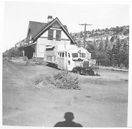 RGS Goose #5 sitting beside Dolores depot.<br /> RGS  Dolores, CO  9/5/1953