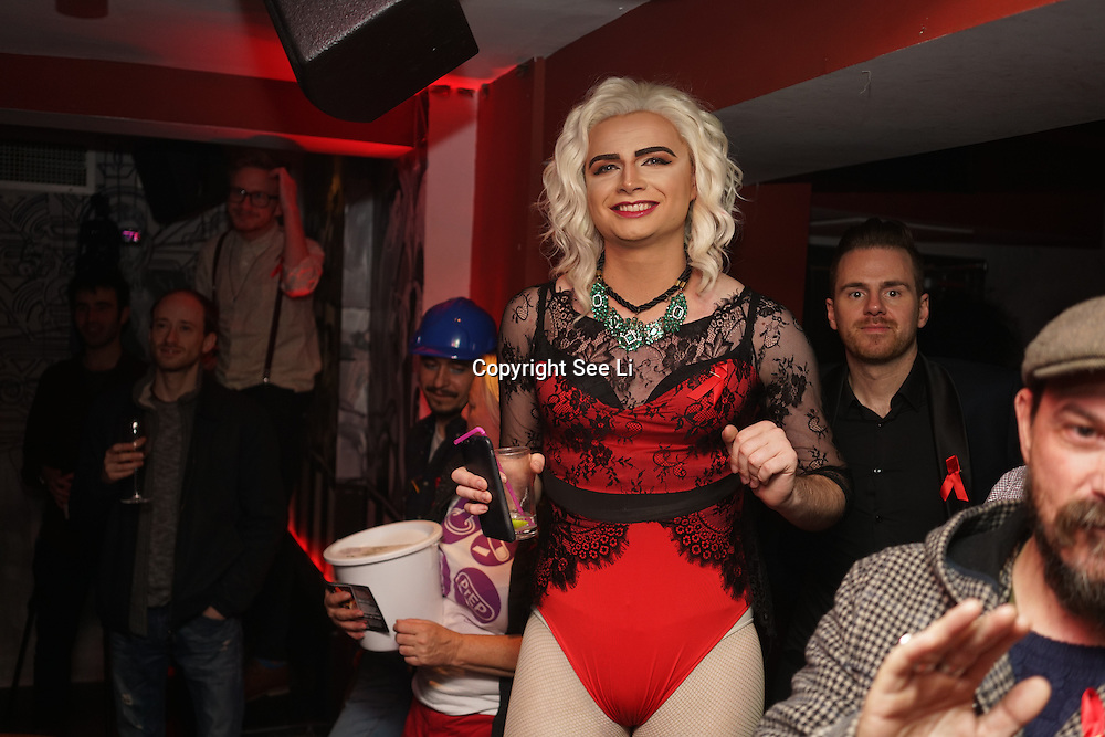 A whole host of talent takes the stage at Muse in Soho for one night to help raise money for GMFA – The gay men's health charity and their HIV prevention and stigma-challenging work on 1st December 2016 in Soho,London,UK. Photo by See Li