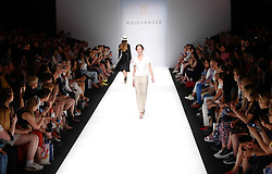 July 3, 2018 - Berlin, Germany - A models presents a Spring/Summer 2019 Maisonnoee collection of during the first day of MBFW Berlin Fashion Weak in the ewerk showspace in Berlin, Germany on July 3, 2018. (Credit Image: © Dominika Zarzycka/NurPhoto via ZUMA Press)