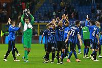 Esultanza Inter, celebration Samir Handanovic Inter, Yuto Nagatomo Inter, Alex Telles Inter, Danilo D'Ambrosio Inter,  <br /> Milano 10-04-2016 Stadio Giuseppe Meazza<br /> Football Calcio Serie A 2015/2016 Inter - Napoli<br /> Foto Cesare Purini / Insidefoto