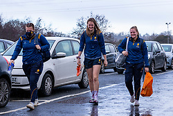Players arriving at a rain-soaked Sixways - Mandatory by-line: Nick Browning/JMP - 20/12/2020 - RUGBY - Sixways Stadium - Worcester, England - Worcester Warriors Women v Harlequins Women - Allianz Premier 15s