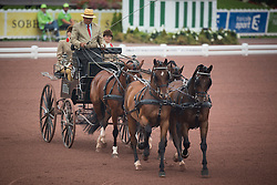 Theo Timmerman, (NED), Boy, Dani, Draco, Mister, Rodina - Driving dressage day 2 - Alltech FEI World Equestrian Games™ 2014 - Normandy, France.<br /> © Hippo Foto Team - Dirk Caremans<br /> 05/09/14