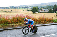 Time Trial Women 32,3 km, Hayley Simmonds (Great Britain) during the Road Cycling European Championships Glasgow 2018, in Glasgow City Centre and metropolitan areas Great Britain, Day 7, on August 8, 2018 - photo Luca Bettini / BettiniPhoto / ProSportsImages / DPPI<br /> - restriction - Netherlands out, Belgium out, Spain out, Italy out
