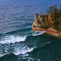 """Rushing Waves at Miners Castle"" <br /> <br /> Beautiful breaking waves at Miners Castle at Pictured Rocks National Lake Shore near Munising Michigan!"
