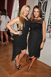 Left to right, LEEANNE SUMMERS and TONYA MELI at a party to celebrate Tamara Ecclestone's 28th birthday held in Tyringham, Newport Pagnell, Bucks on15th June 2012.
