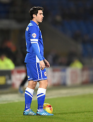 Cardiff City's Peter Whittingham prepares to take a free kick - Photo mandatory by-line: Paul Knight/JMP - Mobile: 07966 386802 - 10/02/2015 - SPORT - Football - Cardiff - Cardiff City Stadium - Cardiff City v Brighton & Hove Albion - Sky Bet Championship