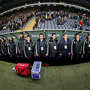 Istanbul Basaksehir's players during their Turkish superleague soccer match Fenerbahce between Istanbul Basaksehir at the Sukru Saracaoglu stadium in Istanbul Turkey on Saturday 03 January 2015. Photo by Aykut AKICI/TURKPIX