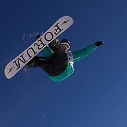 Tore Holvik, Norway, in action during the Men's Half Pipe Finals at the Burton New Zealand Open 2011 held at Cardrona Alpine Resort, Wanaka, New Zealand, 13th August 2011. Photo Tim Clayton