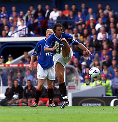 Lorenzo Amoruso, during a Rangers v Dunfermline game in August 2000..