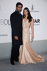 File photo dated May 22, 2014 of Aishwarya Rai, Abhishek Bachchan arriving at amfAR's 21st Cinema Against AIDS Gala presented by Worldview, Bold Films, and Bvlgari at Hotel du Cap-Eden-Roc in Cap d'Antibes, France. Aishwarya Rai Bachchan has been taken to hospital after testing positive for Covid-19 earlier this week. The Indian actress, a former Miss World and one of Bollywood's most famous faces, is being treated at Mumbai's Nanavati Hospital, it was reported. her daughter Aaradhya has also been taken to hospital. Photo by Lionel Hahn/ABACAPRESS.COM