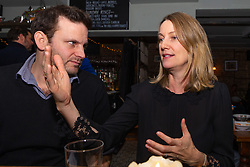 Samantha Dark, 45, discusses Brexit with Bild Reporter Philip Fabian at The Whippet Inn in Kensal Rise, North West London. London January 13 2019.