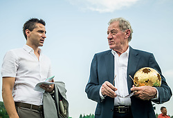 Borut Arlic and Milan Mandaric, president of NK Olimpija Ljubljana during NZS Draw for season 2016/17, on June 24, 2016 in Brdo pri Kranju, Slovenia. Photo by Vid Ponikvar / Sportida