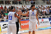 TRENTO, 26/07/2012<br /> TRENTINO BASKET CUP 2012<br /> ITALIA - BOSNIA ED ERZEGOVINA<br /> NELLA FOTO: LUCA VITALI DANIEL HACKETT<br /> FOTO CIAMILLO