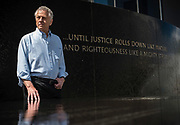 MONTGOMERY, AL -- 5/25/17 -- Even at age 80, Morris Dees still comes into the office daily. The attorney has made a career taking down racist organizations and hate groups over the years, and has created an infrastructure to continue that work well into the future. Dees stands in front of the Civil Rights Memorial, commissioned by the SPLC and dedicated in 1989,<br /> Civil Rights attorney Morris Dees co-founded the Southern Poverty Law Center in 1971. The group has taken on the Ku Klux Klan and fought for against hate for decades, but is now facing criticism that it has labeled some groups without just cause..…by André Chung #_AC29891
