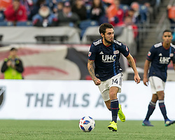 October 28, 2018 - Foxborough, Massachusetts, USA - Foxborough, Massachusetts - October 28, 2018: In a Major League Soccer (MLS) match, New England Revolution (blue/white) defeated Montreal Impact (white), 1-0, at Gillette Stadium. (Credit Image: © Andrew Katsampes/ISIPhotos via ZUMA Wire)