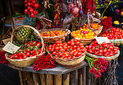 Peppers and tomatoes in Forio on the island of Ischia in Italy and tomatoes in Forio on the island of Ischia in Italy