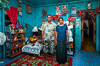 Kawakawa, near Labasa, Fiji | 2011<br /> Basant Kumar and Premila Wati, Arvendra's parents, in their home. Basant has worked as a tenant farmer on this land nearly all his life and was recently able to renew his lease with his native Fijian landlord.
