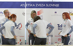 Matic Osovnikar, Sonja Roman, Snezana Rodic, Marija Sestak and Nina Kolaric at press conference before departure of  Slovenian athletics team to European Athletics Indoor Championships Torino 2009, in Ljubljana, Slovenia, on March 4, 2009. (Photo by Vid Ponikvar / Sportida)