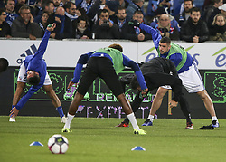 November 3, 2018 - Strasbourg, France - Racing Strasbourg Team, during the French Ligue 1 football match between Strasbourg (RCSA) and Toulouse (TFC) on November 3, 2018 at the Meinau stadium in Strasbourg, eastern France. (Credit Image: © Elyxandro Cegarra/NurPhoto via ZUMA Press)