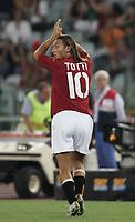 Roma 29/8/2004 Amichevole di presentazione AS Roma. Friendly match Roma - Iran 5-3. Francesco Totti Roma al momento della sua uscita dal campo <br /> <br /> Foto Andrea Staccioli Graffiti