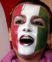 Photo: Jed Wee/Sportsbeat Images.<br /> Scotland v Italy. UEFA European Championships Qualifying. 17/11/2007.<br /> <br /> An Italian fan cheers on her team.