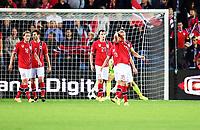 Fotball, 9. september 2014,  Euro Qual.  Norge - Italia<br />  , Norway - Italy<br /> <br /> <br /> Vegard Forren og Håvard Nordtveit ,  , Per Ciljan Skjelbred og  Per Egil Flo , norge depper etter italias andre scoring