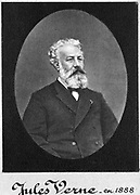 Jules Verne (1828-1905) in 1888. French novelist. Photograph.
