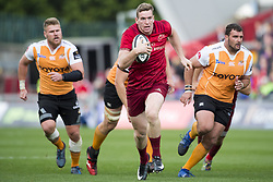 September 9, 2017 - Limerick, Ireland - Chris Farrell of Munster runs with the ball during the Guinness PRO14 rugby match between Munster Rugby and Cheetahs Rugby at Thomond Park in Limerick, Ireland on September 9, 2017  (Credit Image: © Andrew Surma/NurPhoto via ZUMA Press)