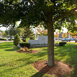 The town green in Claremont, New Hampshire.