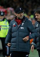 Football - 2019 / 2020 Premier League - Liverpool vs. Wolverhampton Wanderers<br /> <br /> Liverpool manager Jurgen Klopp, at Anfield.<br /> <br /> COLORSPORT/ALAN MARTIN