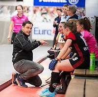 HAMBURG  (Ger) - Rotweiss Wettingen (Sui)  v  MHC Laren (Ned).  foto:  coach Christoph Elste (Wett)     , Eurohockey Indoor  Club Cup 2019 Women . WORLDSPORTPICS COPYRIGHT  KOEN SUYK