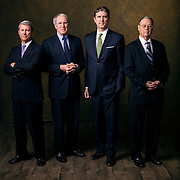 Current UVU President Matthew S. Holland,  and other former Presidents Stoddard, Hitch, Sederbrug, Romesburg, and Higbee group and individual portraits on the campus of Utah Valley University in Orem, Utah, Monday, March 21, 2016. (August Miller, UVU Marketing)