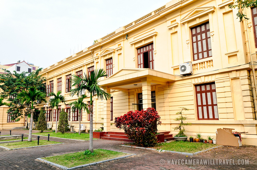 Exterior of the Museum of the Vietnamese Revolution, housed in what was originally the Trade Department of Vietnam. The Museum of the Vietnamese Revolution in the Tong Dan area of Hanoi, not far from Hoan Kiem Lake, was established in 1959 and is devoted to the history of the socialist revolutionary movement in Vietnam.