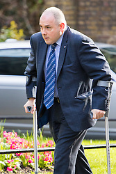 Downing Street, London, April 12th 2016. Deputy Chairman of the Conservative Party Robert Halfon arrives at the weekly cabinet meeting. ©Paul Davey<br /> FOR LICENCING CONTACT: Paul Davey +44 (0) 7966 016 296 paul@pauldaveycreative.co.uk