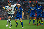 Spurs Mousa Dembele (19) about to shoot during the The FA Cup 3rd round match between Tottenham Hotspur and AFC Wimbledon at Wembley Stadium, London, England on 7 January 2018. Photo by Robin Pope.