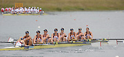 Munich GERMANY,  GBR W8+. Bow  right to left.  Bow Jo COOK, Jennifer FARMER, Kristina STILLER, Alison KNOWLES, Olivia WHITLAM, Louisa REEVE, Natasha PAGE, Jessica EDDIE and cox Caroline O'CONNER. race for lanes  at the 2nd Round FISA World cup on the Olympic Rowing Course Munich, Friday 19/06/2009, [Mandatory Credit. Peter Spurrier/Intersport Images]
