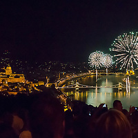 Fireworks of the Hungarian national holiday above the city in Budapest, Hungary on August 20, 2012. ATTILA VOLGYI
