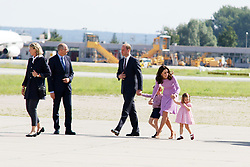 July 21, 2017 - Hamburg, Hamburg, Deutschland - Britain's Prince William, Duke of Cambridge, his wife Kate, the Duchess of Cambridge, and their children Prince George and Princess Charlotte visit Airbus helicopters on the tarmac of the Airbus plant on July 21, 2017 in Hamburg, Germany. (Credit Image: © Future-Image via ZUMA Press)
