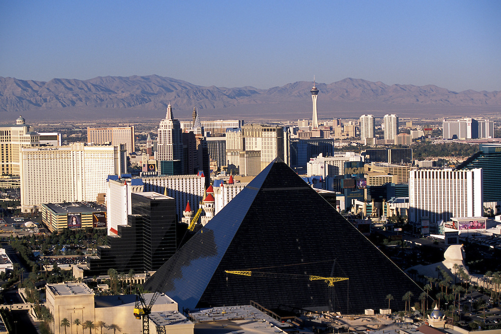 Las Vegas with the Luxor in foreground. November, 2002